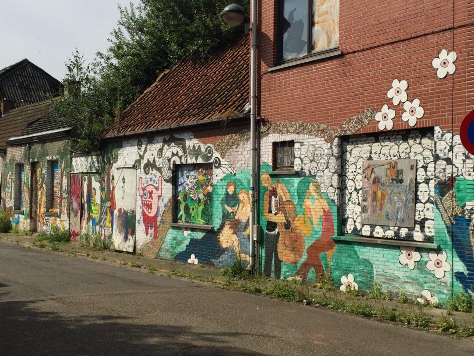 straat in Doel