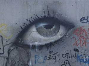 Oog - graffiti in Doel