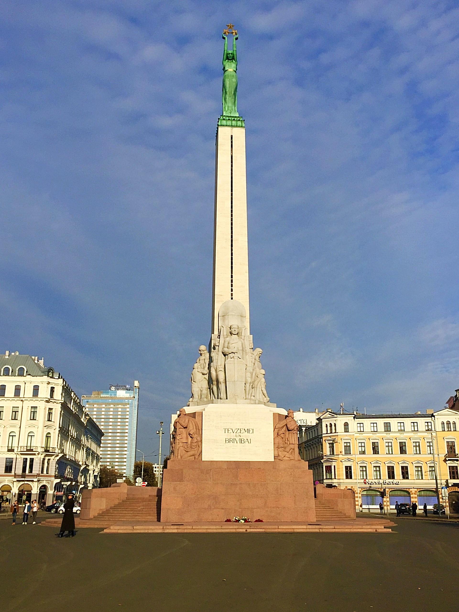 Vrijheidsmonumen,t in Riga