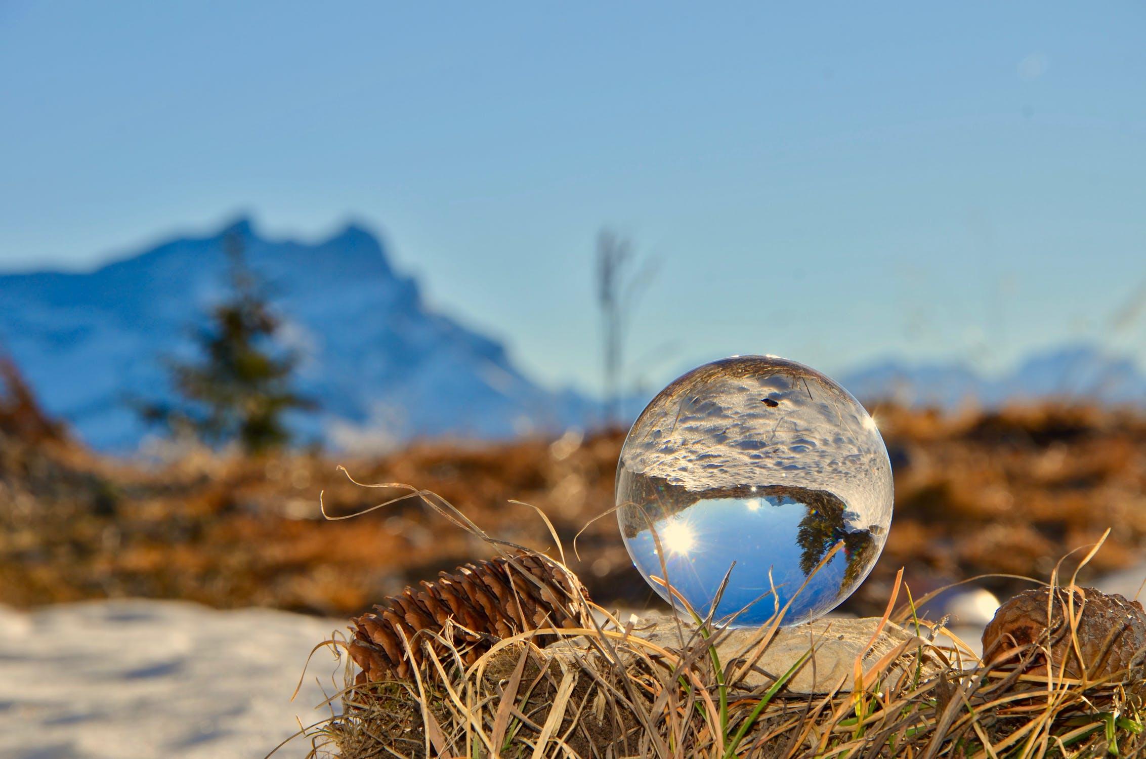 Kristallen bol fotografie