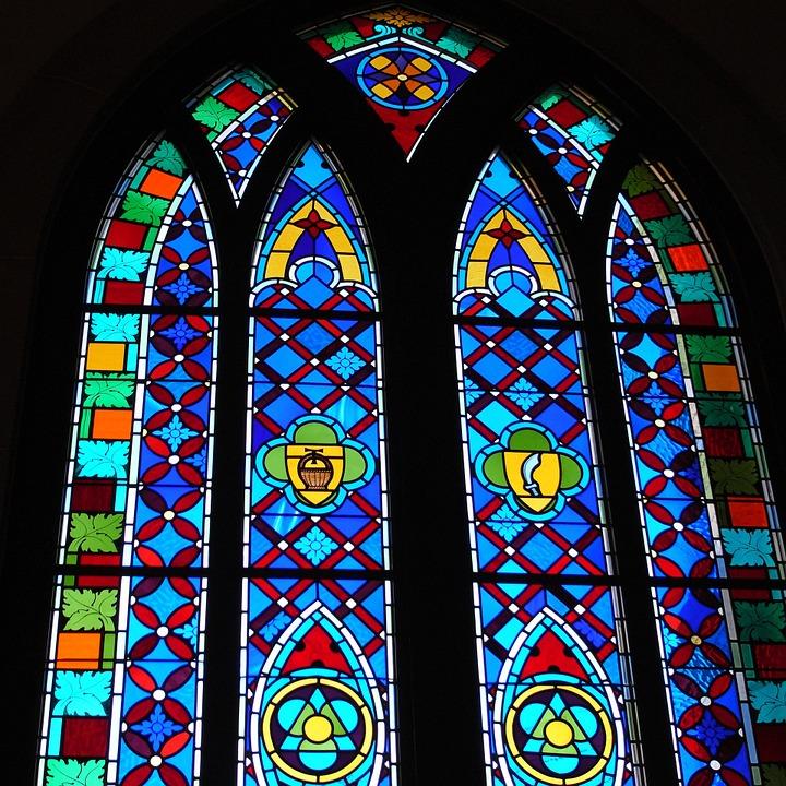 Glasraam in Kathedraal van Canterbury
