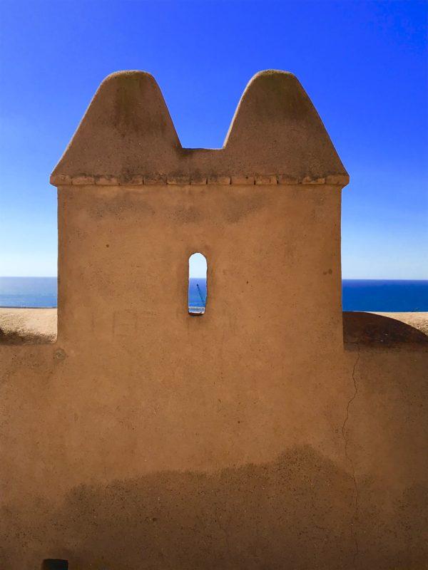 Detail van het Alcazaba in Almeria