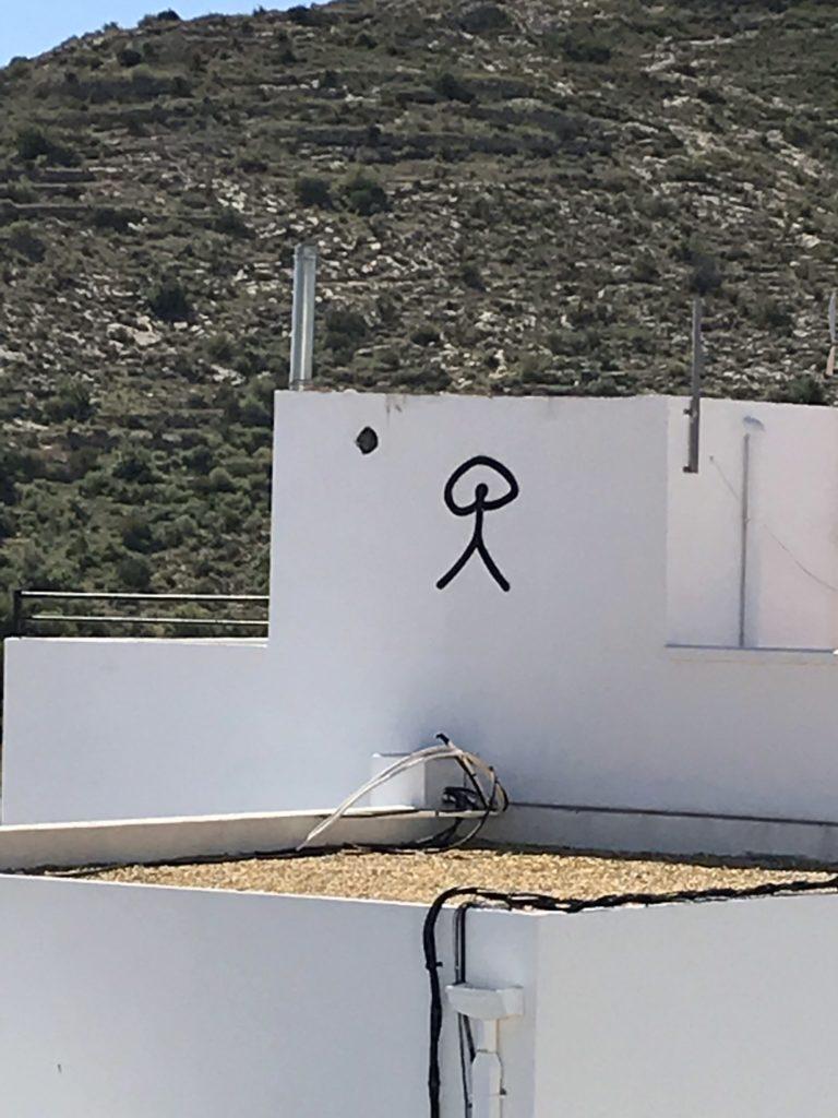 De indalo, afgebeeld op een huis in Mojacar