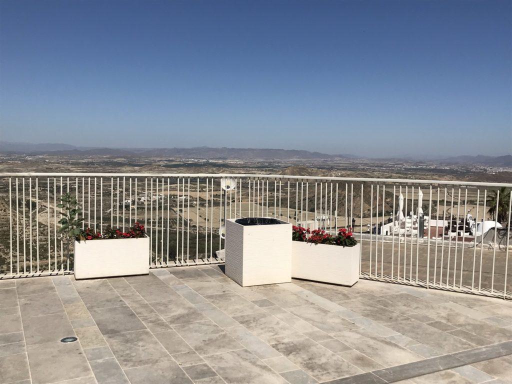 zicht vanop de mirador in Mojacar