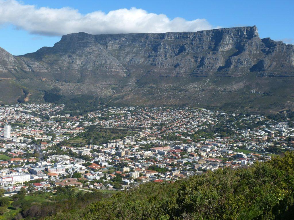 Zicht op de Tafelberg