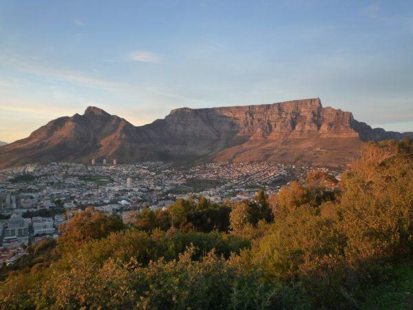 De Tafelberg in Kaapstad (Zuid-Afrika)