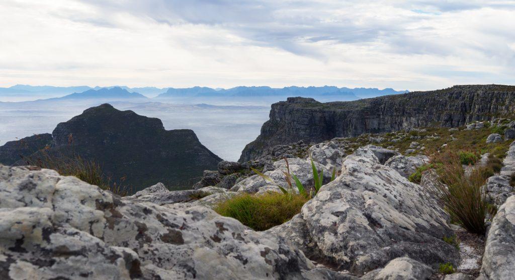 Zicht vanop de Tafelberg