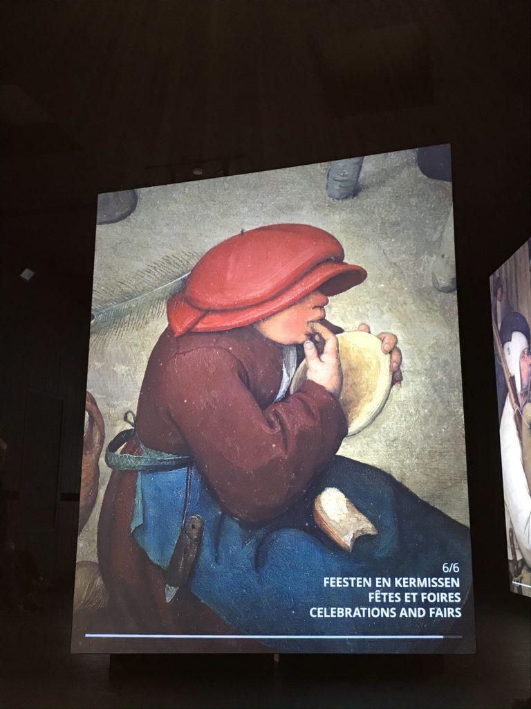 Beyond Bruegel: detail van een schilderij. Thema feesten en kermissen