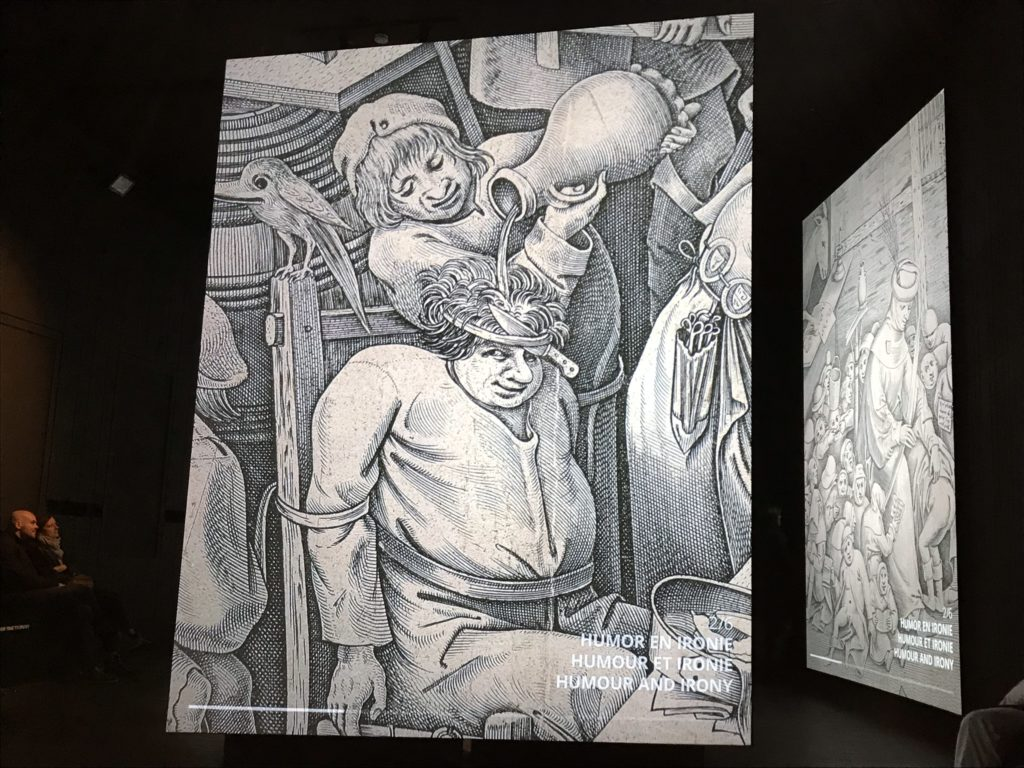 Beyond Bruegel: detail van een humoristisch schilderij