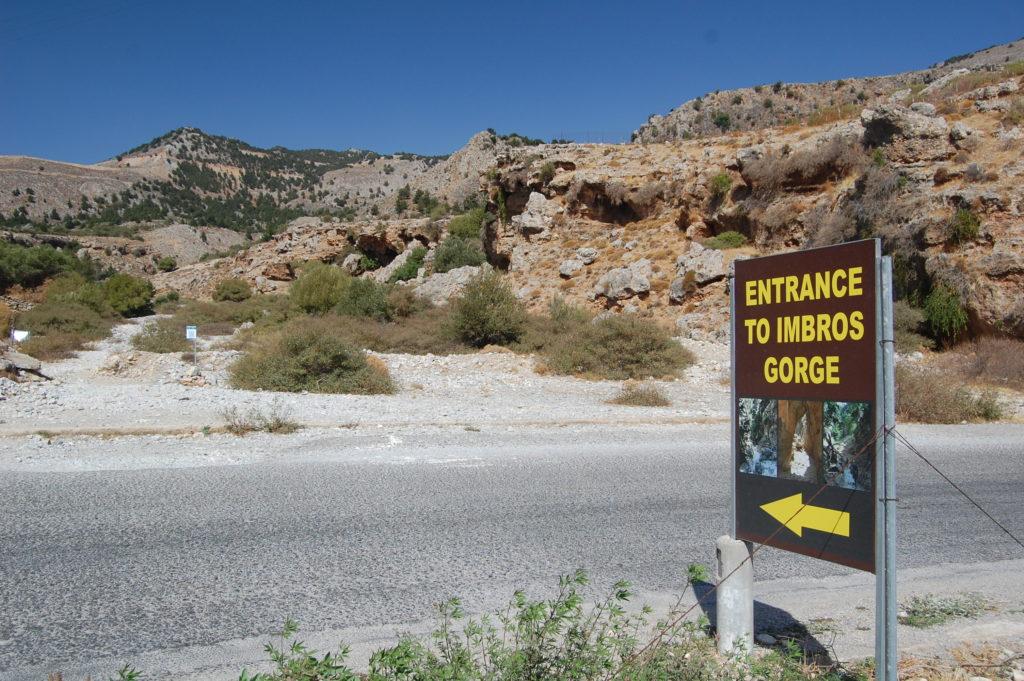 De ingang van de Imbroskloof