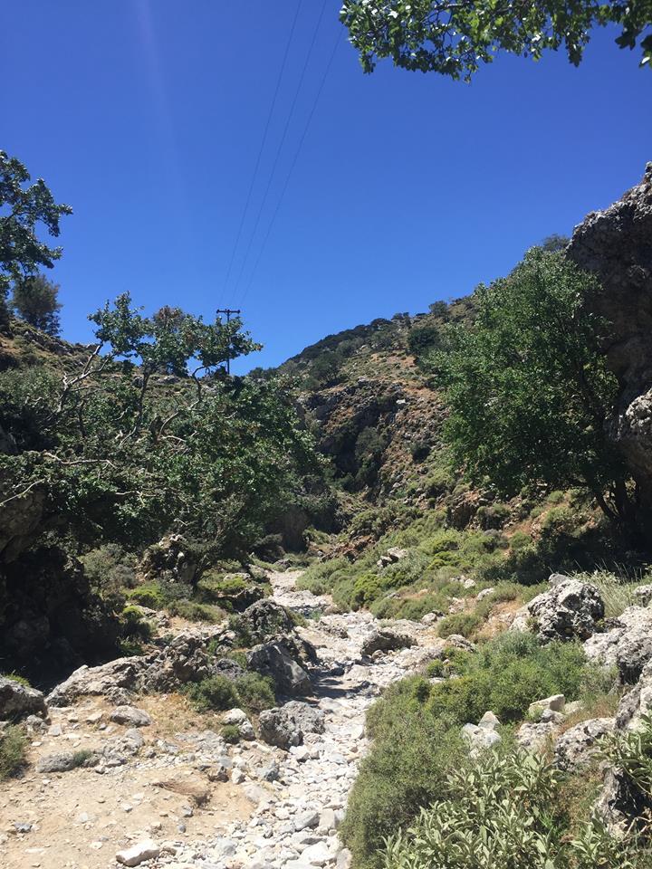 Het pad in de Imbroskloof