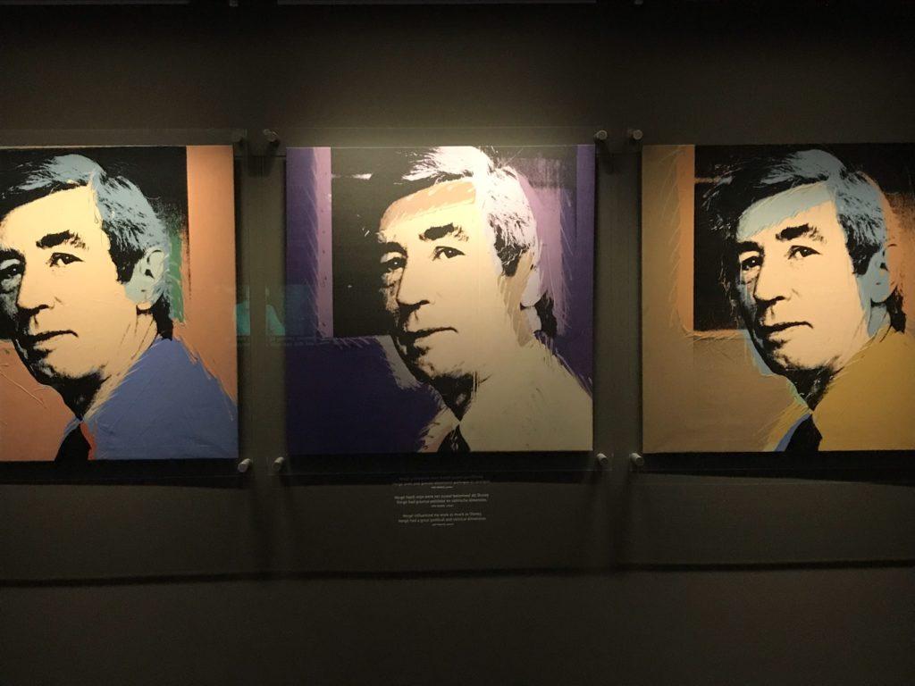 Schilderij van Hergé door Andy Warhol