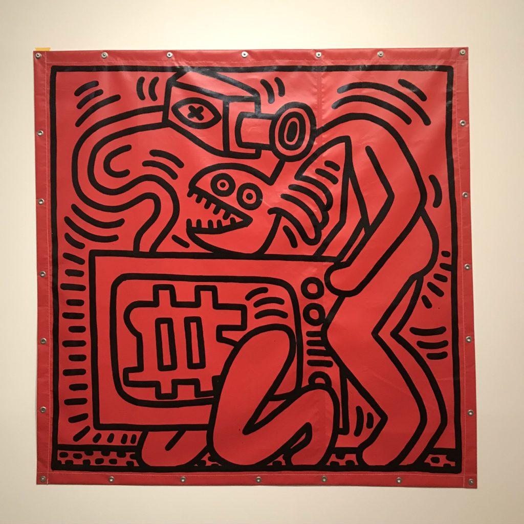 Keith Haring in Bozar. Werk op dekzeil