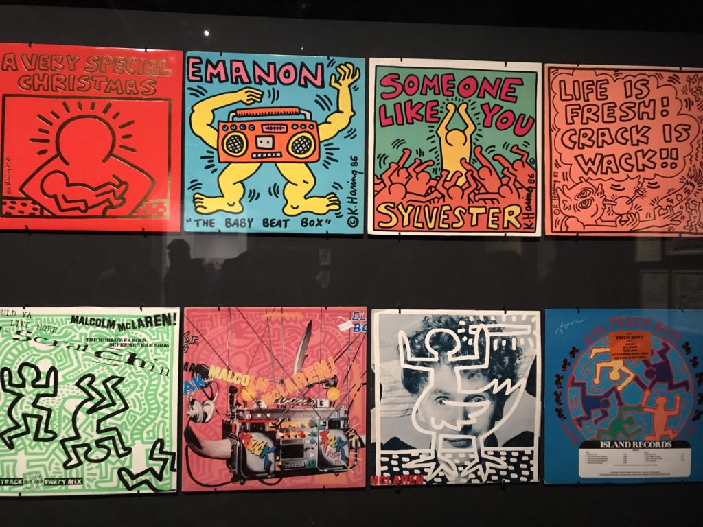 Keith Haring in Brussel. Platenhoezen.