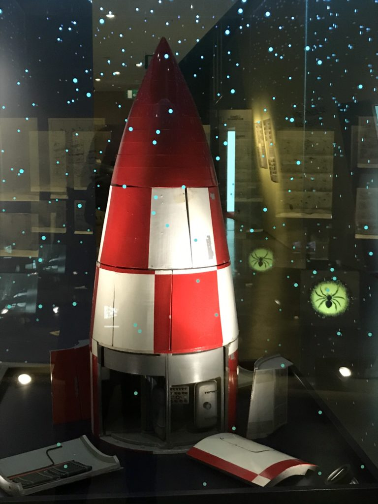 De raket in het Hergémuseum