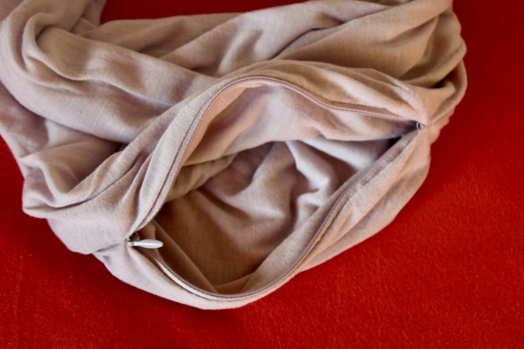 Oneindige sjaal met opbergzakje