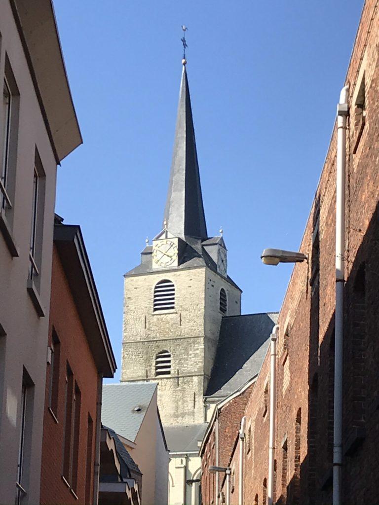 Het centrum van Overijse met zicht op de Sint-Martinuskerk