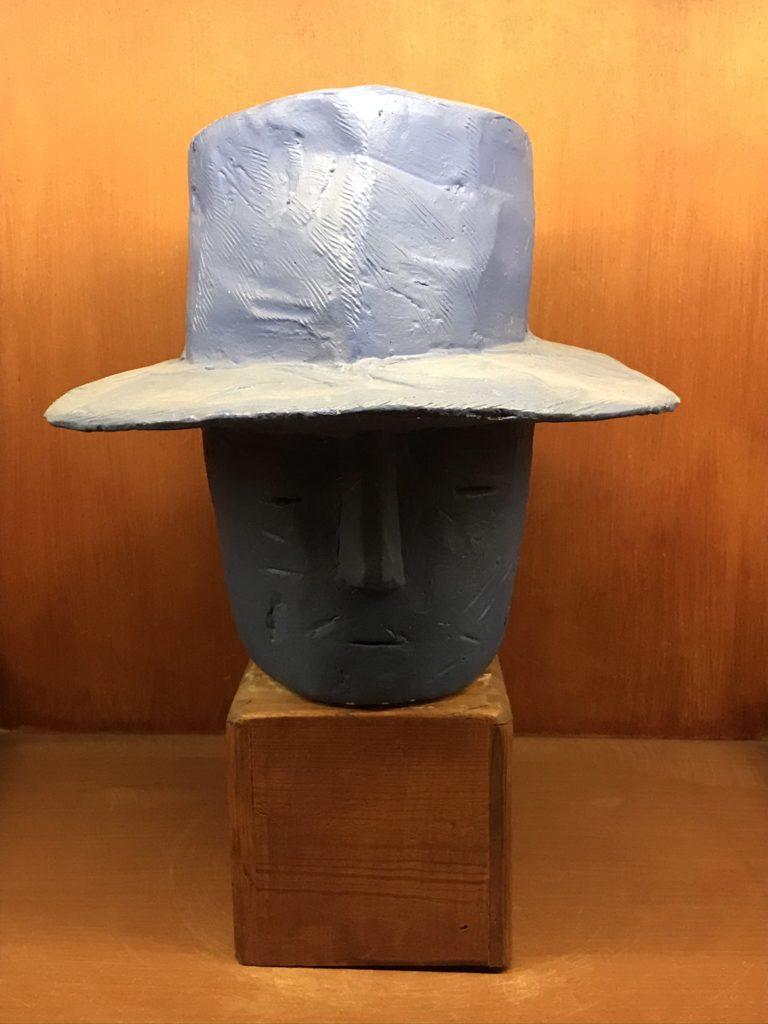 Folon: sculptuur van de Blauwe Man
