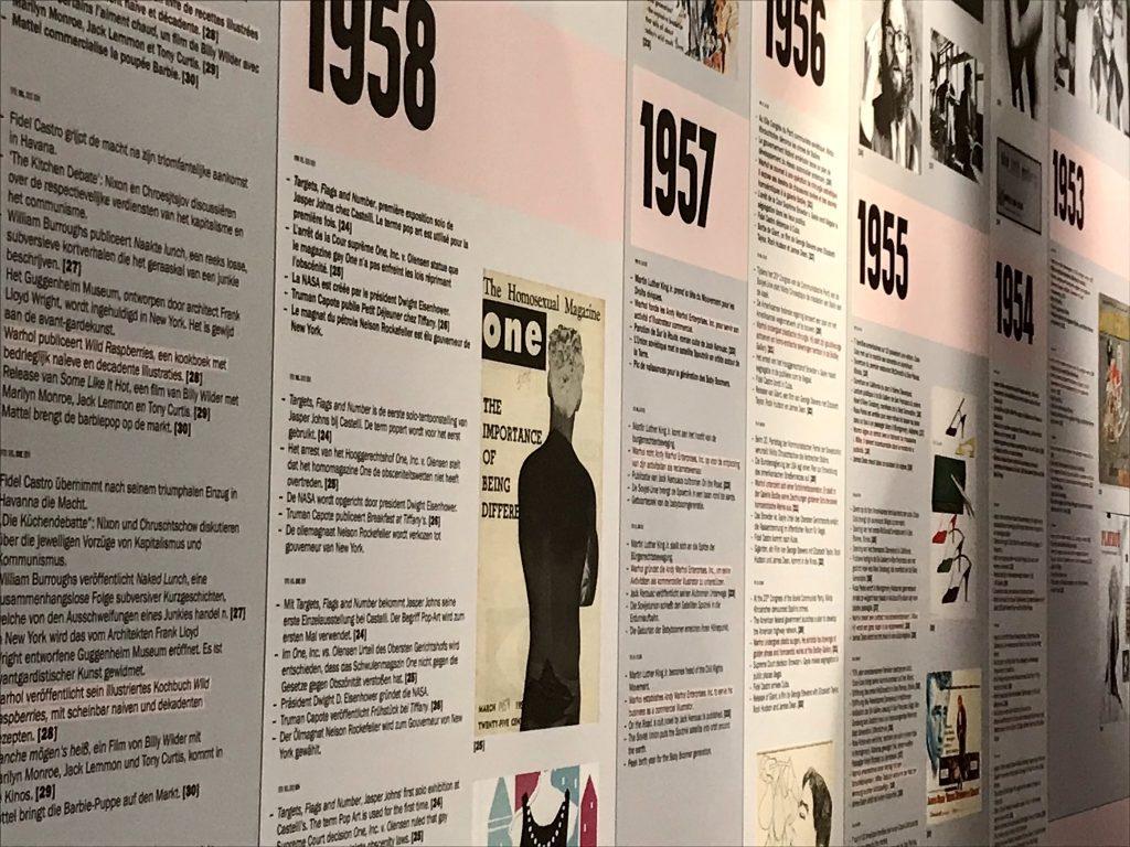 Tijdslijn expo Andy Warhol